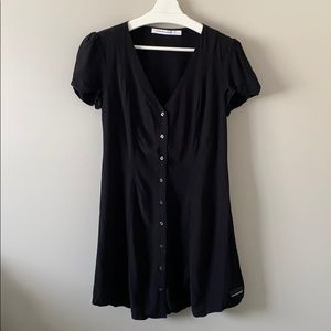 Calvin Klein Jeans Black Button Up Dress